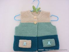 Your place to buy and sell all things handmade : Knitted baby cardigan /unisex baby cardigan/knit baby от AnaSwet Knit Vest Pattern, Crochet Baby Cardigan, Crochet Headband Pattern, Knitting For Kids, Baby Knitting Patterns, Baby Patterns, Hand Knitting, Baby Outfits, Kids Outfits