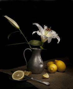 I want to paint lemons and lilies