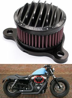 Auction Now!!!Black Air Cleaner Intake Filter System Kit for Harley sportster XL883 XL1200  #ETAWS