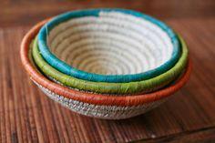Handmade Expressions - Mini date leaf nesting baskets fair trade