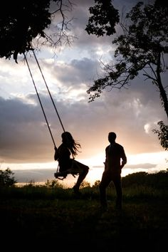 I love swings. How they make you feel like you're falling all over again...