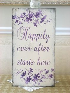 your happily ever after   Wedding sign Happily Ever after Starts Here BRIDAL Vertical shabby ...