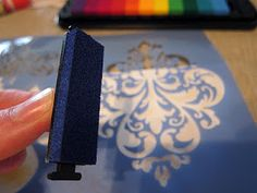 Art is Basic-- Art Teacher Blog: how did this never occur to me?  Use stamp pad with stencil.