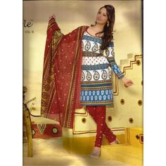 A Beautiful Cotton abstract of traditional printed  dress material Suit  with print deginer  Churidar / salwar And  Printed Dupatta.     SRF2131