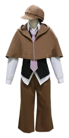 Onecos Anime Bungo Stray Dogs Ranpo Edogawa Uniform Cosplay Costume ** Check this awesome product by going to the link at the image.