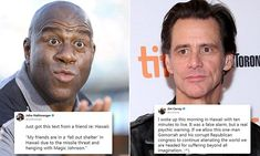Jim Carrey thought he had minutes to live in Hawaii missile blunder #DailyMail