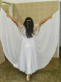 """Attach the """"isis wings"""" to the back of the skirt? Praise Dance Wear, Worship Dance, Fashion Angels, Dance Fashion, Dance Outfits, Dance Dresses, Garment Of Praise, Dance Uniforms, Chinese Dance"""