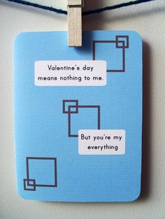 Valentine's Day Card  Valentine's Day means nothing to me by @4four, $4.00