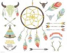 DreamCatcher teepee feathers crossed arrows by GrafikBoutique, $5.50
