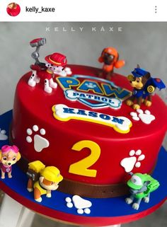 Paw patrol theme custom cake rubble on the double paw patrol cake i made for my son s birthday! Bolo Do Paw Patrol, Torta Paw Patrol, Paw Patrol Chase Cake, Paw Patrol Cupcakes, Marshall Cake Paw Patrol, Rubble Paw Patrol Cake, Baby Boy Birthday Cake, 3rd Birthday Cakes, Birthday Ideas