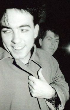 Robert Smith and Lol Tolhurst of The Cure.