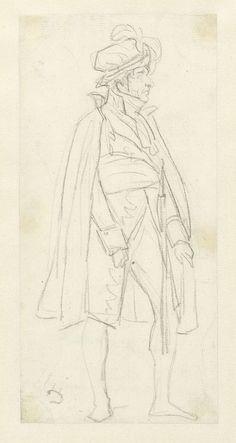 anoniem | Koning Lodewijk Napoleon de Sacre bijwonend, possibly Louis David, 1800 - 1825 | Koning Lodewijk Napoleon de 'Sacre' bijwonend.