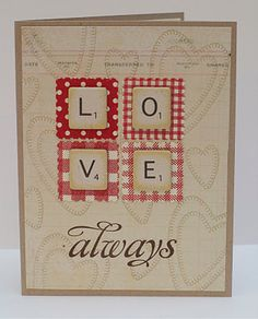 valentine.  great use of those scrabble tile printables I pinned.