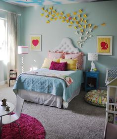love the colors & butterflies. from: livingwithpunks.com