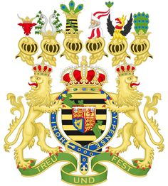 Coat of Arms of Alfred, Reigning Duke of Saxe-Coburg and Gotha (German) and Duke of Edinburgh (UK).  Second son of Victoria and Albert.