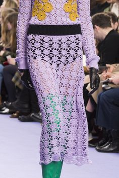 Mulberry at London Fashion Week Fall 2017 (Details) Crochet Dress