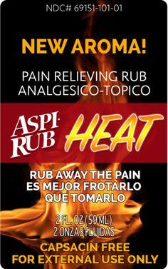AspiRub HEAT | Topical Pain Relief http://shop.aspirub.com/products/aspirub-heat