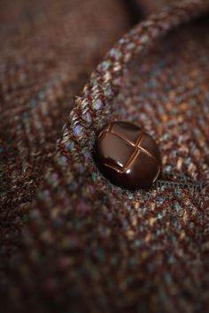 Vintage Herringbone Harris Tweed Sport Coat 42 by AsperityVintage