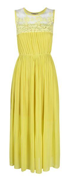 Citron pleated dress
