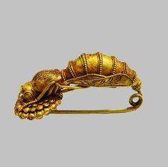 Greek Bee Fibula, 4th century BC The bee, found in the artifacts of Ancient Near East and Aegean cultures, was believed to be the sacred insect that bridged the natural world to the underworld.