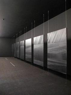 exposition « Pierre Soulages » au Musée de la Ville de Mexico TENSION CABLE PANELS