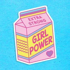 BIG Girl Power Vinyl Stickers from the ❤ – girl power tattoo Girl Power Tattoo, Girl Tattoos, Laptop Stickers, Cute Stickers, Milk Box, Snapchat Stickers, Girl Empowerment, Tumblr Stickers, Aesthetic Stickers