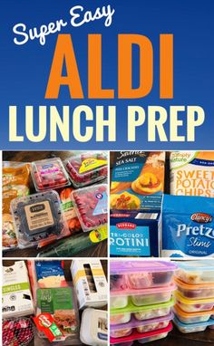 Quick and Easy Aldi Lunch Prep that will save you time and money! # Quick and Easy Aldi Lunch Prep that will save you time and money! Lunch Meal Prep, Healthy Meal Prep, Healthy Snacks, Healthy Recipes, Detox Recipes, Kid Snacks, Lunch Snacks, Healthy Cooking, Lunch Box