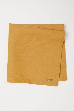 Serviett i vasket lin - Mørk gul - Home All | H&M NO 1