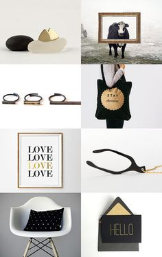 black and gold by Aliquid on Etsy