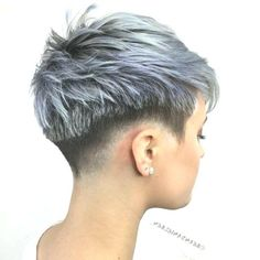 Pixie Haircut ideas for round, square and diamond face. We have selected 100 pixie haircut photos that will help you to choose the best for you. Really Short Hair, Super Short Hair, Short Grey Hair, Short Hair Cuts, Short Hair Styles, Short Hair Designs, Funky Short Hair, Short Pixie Haircuts, Pixie Hairstyles
