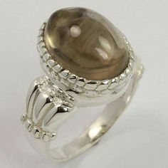 Natural SMOKY QUARTZ Gemstone 925 Sterling Silver Indian Jewelry Ring Size US 7 #Unbranded Jewelry Rings, Fine Jewelry, Smoky Quartz Ring, Silver Jewellery Indian, Amethyst Gemstone, Sterling Silver Jewelry, Gemstones, Natural, Gems