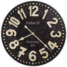"Oversized 36"" Fulton Street Wall Clock"