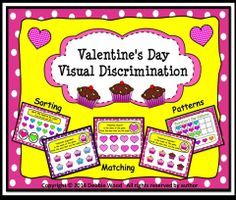 Valentine's Day Smart Board Visual Discrimination: Preschool/ Kinder/ First.  Includes Matching, Sorting and Patterning.