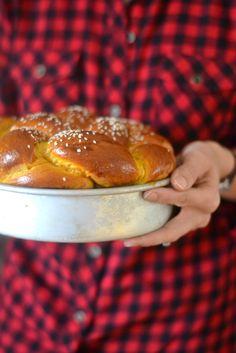 Pumpkin Challah  #BakingTheWorldBetter