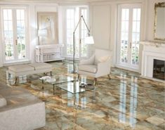 31 Chic Living Room Design Ideas With Floor Granite Tile To Have Granite Flooring, Granite Tile, Kitchen Flooring, Travertine Floors, Kitchen Tile, Ceramic Floor Tiles, Tile Floor, Porcelain Floor, Marble Tiles