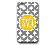 "iPhone cover - super cute - yellow and gray are ""the colors of 2012"" also available for iPod Touch, Samsung Galaxy and all iPhone versions."