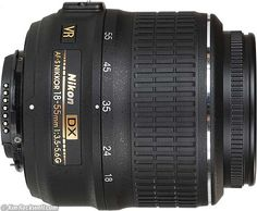 Nikon 18-55mm f/3.5-5.6G AF-S VR DX Good cheap beginner's kit lens, choice for first Nikon lens, if wide angle is preferred and most of the shooting is done in 18-55mm range. Not good for video - image too soft for 1080p. Better kit lens for video is Canon's 18-55mm that comes with Canon 650D, much sharper and faster focusing. 18-55mm has better image quality then  18-105mm - if the aim are portratis and longer focal lengths with nice bokeh then forget it, a prime lens (f1.8 of f2.8) is a…
