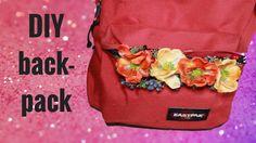 east pack DIY || floral backpack - back to school   https://www.youtube.com/watch?v=_D9kSc5S8tw
