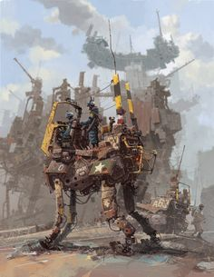 Awesome Pseudo 3d Illustrations by Ian McQue