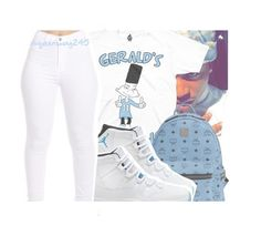 """Gerald's Elevens x Jacquees"" by queenswag245 ❤ liked on Polyvore featuring Columbia and MCM"