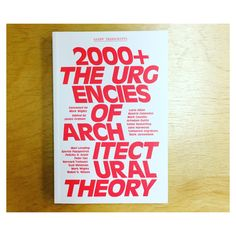 Check '2000+ The Urgencies of Architectural Theory', convened by our co-curator Mark Wigley, edited by James Graham, with texts by Beatriz Colomina, Lucia Allais, Keller Easterling, John Harwood, Mark Jarzombek, Spyros Papapetros, Felicity D. Scott, Pelin Tan, Eyal Weizman and Mabel O. Wilson among others. Published by Columbia GSAPP