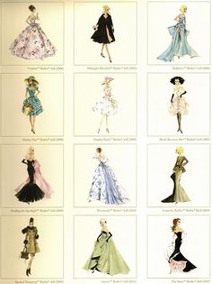 Vintage Barbie Fashion Prints