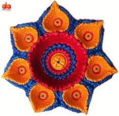 Deepavishkar Shubh Hand Painted Diwali Diyas Set