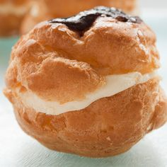 A delicious cream puff pastry recipe with vanilla cream filling.. Vanilla Cream Puffs Recipe from Grandmothers Kitchen.