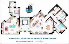 Sheldon-Leonard & Penny's apartments ////////////  Funny Big Bang Theory Pictures � 30 Pics