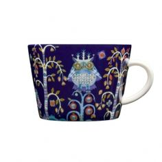Theme and color are adorable in this cappuccino cup made by Iittala  -yes, I have these as well