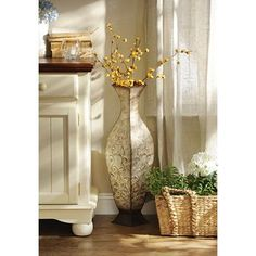 Captivating Add This Metal Floor Vase To Any Room For A Bold, Stylish Look! With