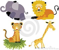 M6 Animal Vectors: These drawings have nice colors and geometric bodies. The details look very simple. The animals are fun to look at.