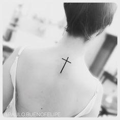 Tattoo cruz delicada By @paulo.buenofelipe Psychedelic Tattoo