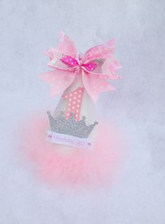 Winter Princess Birthday Party Hat for Winter Onederland Party